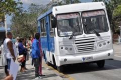 Sancti Spíritus está en 26. Nuevos ómnibus marca Diana se sumaron a la transportación de pasajeros en la ciudad de Sancti Spíritus. (Foto: Vicente Brito/ Escambray)