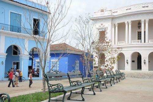 El parque Serafín Sánchez, la plaza más emblemática de la ciudad.