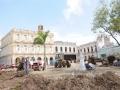 El nuevo proyecto pretendía que esa importante plaza esperara renovada el aniversario 500 de la villa.