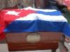 Sus restos mortales fueron expuestos en la Casa Municipal de Cultura de Yaguajay.
