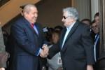 Chávez y Mujica en la Cumbre de MERCOSUR.