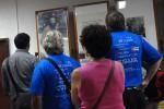 Los brigadistas recorrieron el Complejo dedicado a Camilo en Yaguajay.