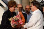 Dilma Rousseff fue recibida por el canciller cubano