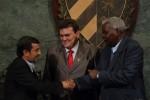 Ahmadinejad ofreció una conferencia magistral en la Universidad de La Habana.
