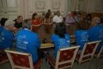 Los brigadistas se reunieron con familiares de los antiterroristas cubanos.