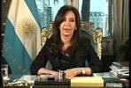 Cristina Fernández, presidenta de Argentina.