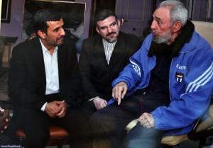 La presidencia de Irán divulgó imágenes del encuentro de Ahmadineyad y Fidel en La Habana.