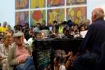 Galeano durante la presentación de sus textos en Casa de las Américas.