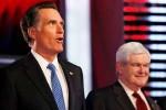 Newt Gingrich y Mitt Romney.