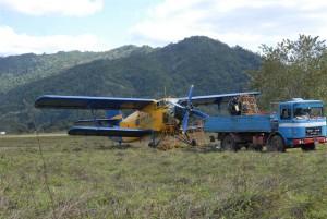 En el valle intramontano de Veguitas de Jibacoa logró aterrizar la avioneta.