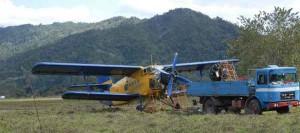 El AN-2CX despegará de regreso este viernes desde la pista rústica.
