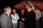 A su llegada, Chávez fue recibido por Raúl Castro.