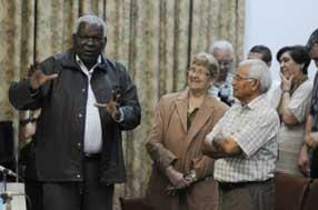 Alrededor de 70 líderes religiosos participaron en el encuentro.