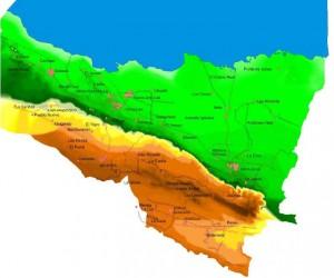 Límite del Área bajo manejo integrado costero en el municipio de Yaguajay