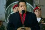 Chávez a su regreso a Venezuela.
