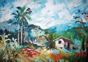 Obra de la muestra Paisajes de mi tierra, de Ahmed Alonso.