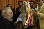 Fidel Castro en el encuentro con integrantes del Crucero de la paz.