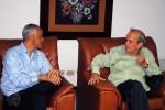 Momento del encuentro entre Alarcón y el presidente del Parlamento Centroamericano.