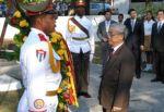 Nguyen Phu Trong rindió homenaje al líder revolucionario Ho Chi Minh en La Habana. (foto: AIN)
