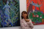Alicia Leal cuenta con más de 20 exposiciones personales. (Foto Roberto Chile)