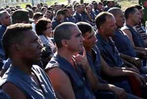 Internos de un centro penitenciario cubano.