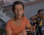 Preocupada, pero segura, se sentía este lunes la abuela Obdulia Gil, residente en El Médano.