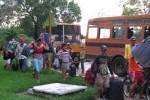 Momentos de la llegada de los pobladores de El Médano a la Universidad Pedagógica.