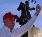 José Ramón Machado Ventura acompañó al pueblo de Santiago de Cuba este Primero de Mayo. (foto: AIN)