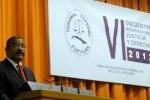 Rubén Remigio Ferro al intervenir en la apertura del Encuentro Internacional Justicia y Derecho. (foto: AIN)