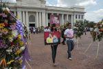 Miles de nicaraguenses acuden al Palacio Nacional para rendir merecido tributo al Comandante del FSLN.