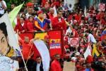 Chávez fue acompañado por cientos de miles de simpatizantes. (Foto AVN)