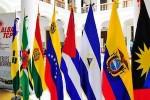 Banderas de los países integrantes del ALBA.