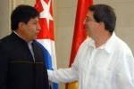 El ministro cubano afirmó que ante los intentos desestabilizadores en Bolivia estará presente la solidaridad de Cuba.