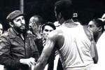 Fidel y Stevenson (de espalda) (Foto Archivo)
