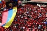 Chávez compartió su cumpleaños con el pueblo de Petare.