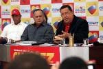 Chávez en su primera rueda de prensa con medios nacionales e internacionales.