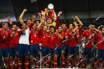 España celebra la obtención de la Eurocopa 2012.
