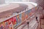 El Muro de Berlín, que separó la capital histórica de Alemania entre 1961 y 1989.