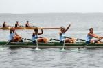 Las muchachas del bote cuatro par de SS,categoría 14-15 años, son candidatas a medallas.