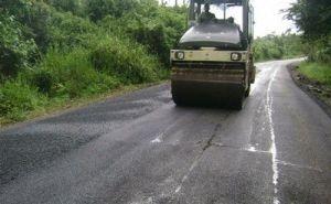 Unos 10 kilómetros de la carretera de Topes de Collantes quedaron asfaltados a inicios de este año.