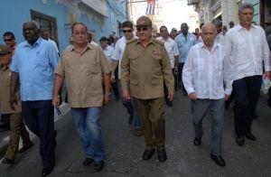 Raúl encabezó la peregrinación del pueblo santiaguero este 30 de julio.