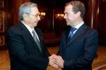 Raúl Castro Ruz, se reunió con el primer ministro ruso, Dimitri Médvedev.
