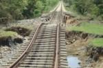 Así dejaron las lluvias de mayo este ramal ferroviario.