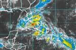 Foto del satélite de la tormenta Isaac este domingo en la mañana.