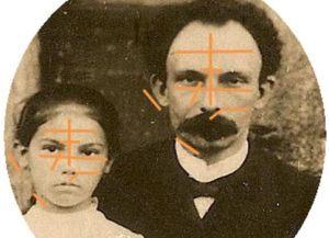 María Mantilla, la niña que el Apóstol bautizó en enero de 1881.
