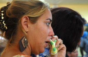 Familiares, amigos y pobladores de Yaguajay  recordaron el trágico suceso.(foto: Oscar Alfonso)