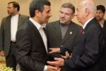 El Presidente iraní Mahmud Ahmadineyad recibió al Vicepresidente cubano, José Ramón Machado Ventura. Foto: Irna