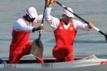 Serguey con su dupla del C-2 a 1 000 metros se ubicó sexto. (foto: tomada de Cubadebate)