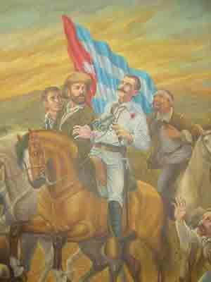 Cuadro que representa la muerte en combate de Serafín Sánchez