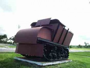 En los talleres mecánicos allí situados se construyó por su orden, el carro  blindado Dragón I